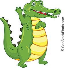 Funny crocodile cartoon
