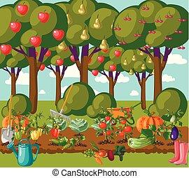 garden. vector