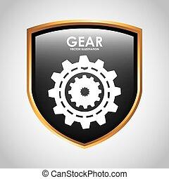 gears shield design, vector illustration eps10 graphic