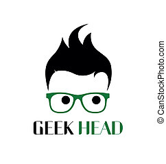 Geek style logo template.