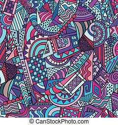 Geometric abstract decorative pattern