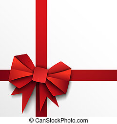 Gift paper red bow and ribbon