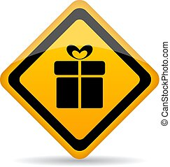 Gift wrapping service vector icon