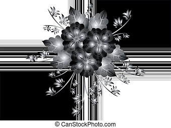 Gift wrapping with abstract flowers