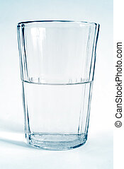 glass transparent cup with clear water