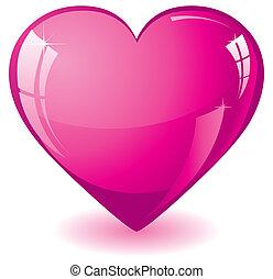 Glitter pink heart vector illustration