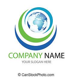 glossy global, world logo, icon