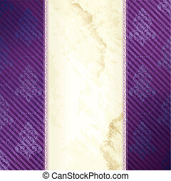 Gold and purple Victorian banner