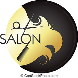 Gold curls hair hairstyles and scissors with comb