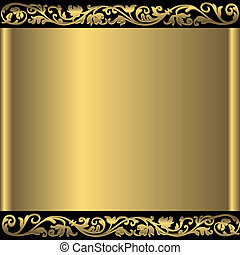 Vintage golden frame with place for the text