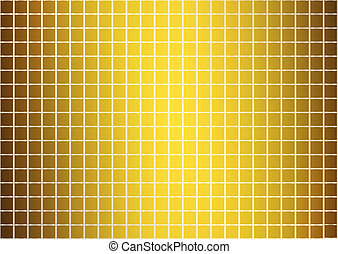 Golden abstract pattern (vector)