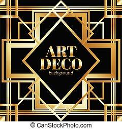 golden gradient gatsby art deco background design ilusstration vector