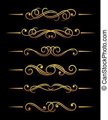 Golden vintage dividers
