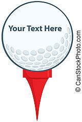 Golf Ball With Tee