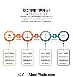 Gradient Timeline Infographic
