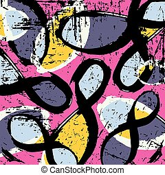 graffiti colored geometrical objects vector illustration
