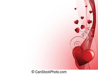 Grange vector Valentines Day backgr