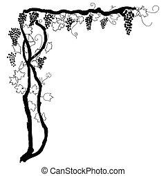 grapevine corner as background element