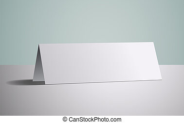 Graphic business object, work white card, vector