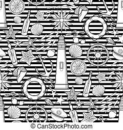 Graphic nautical pattern