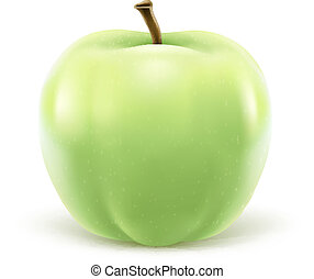 Greeen apple isolated on white background