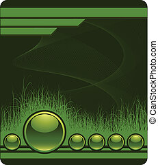 Green background with grass