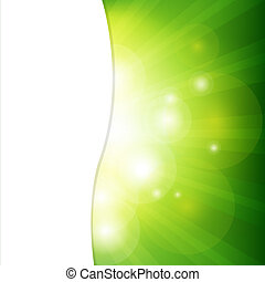 Green Background With Sunburst