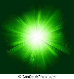 Green color design with a burst. EPS 8
