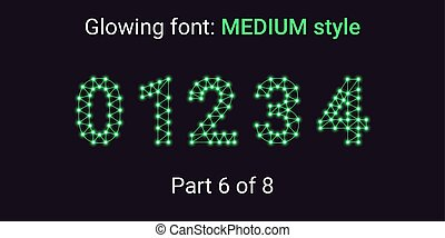 Green Glowing font in the Outline style