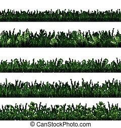 Green Grass Border Set