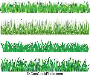 Green grass elements