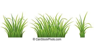 Green grass set