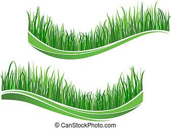Green grass waves