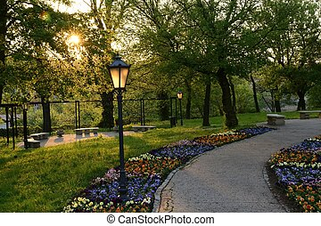 A beautiful oasis of greenery, colorful parks in Poland