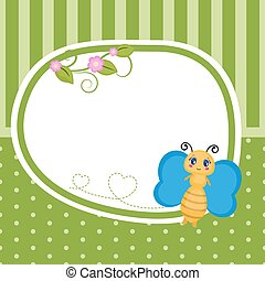 Greeting card with butterfly.
