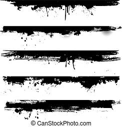 Detailed grunge elements ideal for use as borders