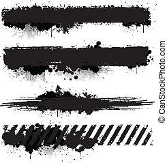 Grunge paint textures