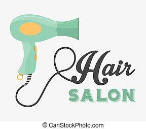hair salon design, vector illustration eps10 graphic