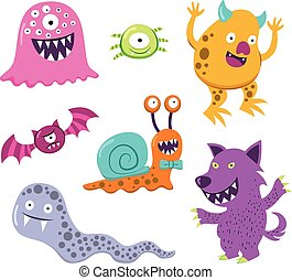 Halloween Monster Animal Characters
