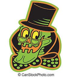 Halloween Skeleton Sign Clip Art