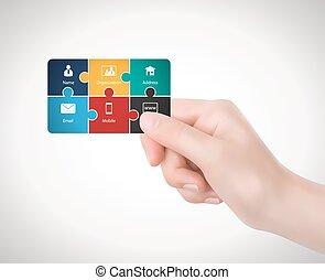 Hand - business card