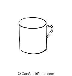 hand drawn quirky cartoon tankard of beer