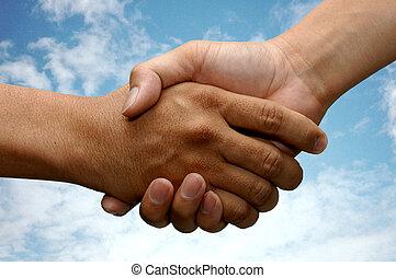Hand Shake with Cloud