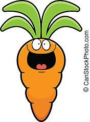 Happy Cartoon Carrot