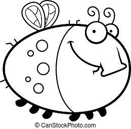 Happy Cartoon Fly