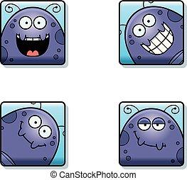 Happy Cartoon Fly Icons