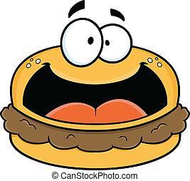 Happy Cartoon Hamburger