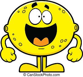 Happy Cartoon Lemon