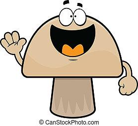 Happy Cartoon Mushroom