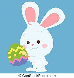Happy easter theme with bunny